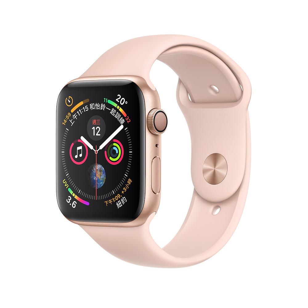 Apple Watch Series 4 GPS44mm 金色鋁金屬錶殼粉沙色運動型錶帶