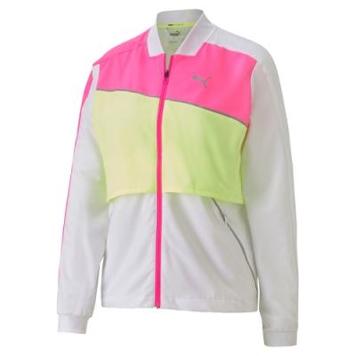PUMA-女性慢跑系列Lite 立領風衣外套-白色-歐規