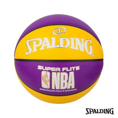 SPALDING NBA SUPER FLITE系列-黃/紫 合成皮 #7