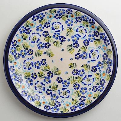 【波蘭陶 Zaklady】 青藍夏日系列 圓形餐盤 27cm 波蘭手工製