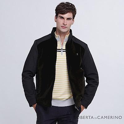 ROBERTA諾貝達 帥氣型男 內裡鋪棉 拼色夾克外套 灰綠