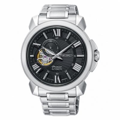 SEIKO 精工錶 Premier( SSA371J1)黑面機械錶x42.9mm