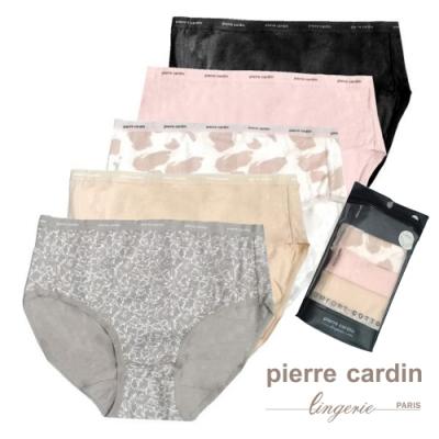 Pierre Cardin皮爾卡登 棉質中腰三角褲便利包(多色5件組)