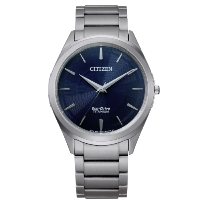 CITIZEN 極簡鈦金屬光動能腕錶BJ6520-82L