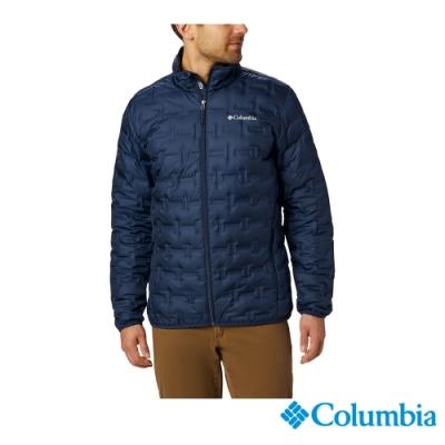 Columbia 哥倫比亞 男款- Omni HEAT 鋁點保暖羽絨外套-深藍