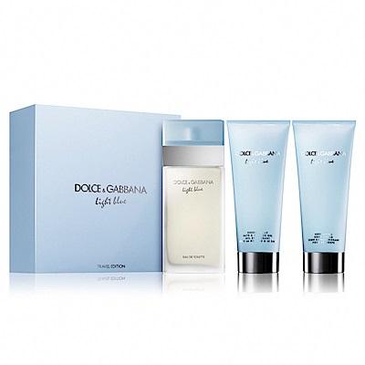 Dolce&Gabbana 淺藍女性淡香水禮盒(香水/沐浴膠/膠身體乳100ml)