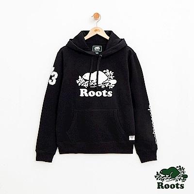 男裝Roots 派尼頓連帽上衣-黑