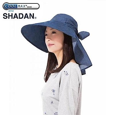 日本NEEDS涼感超寬帽簷15cm可折疊收納後簾綁蝴蝶結#79817黑/#82497深藍防曬遮陽帽