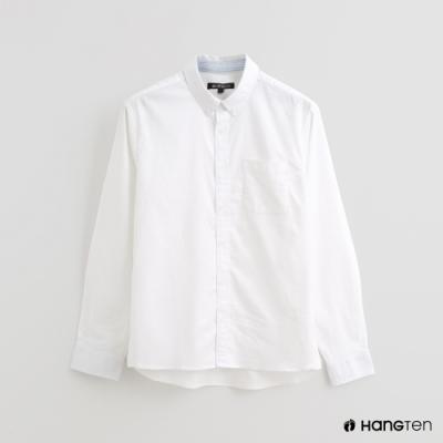 Hang Ten - 男裝 - 配色條紋潮流印花襯衫 - 白
