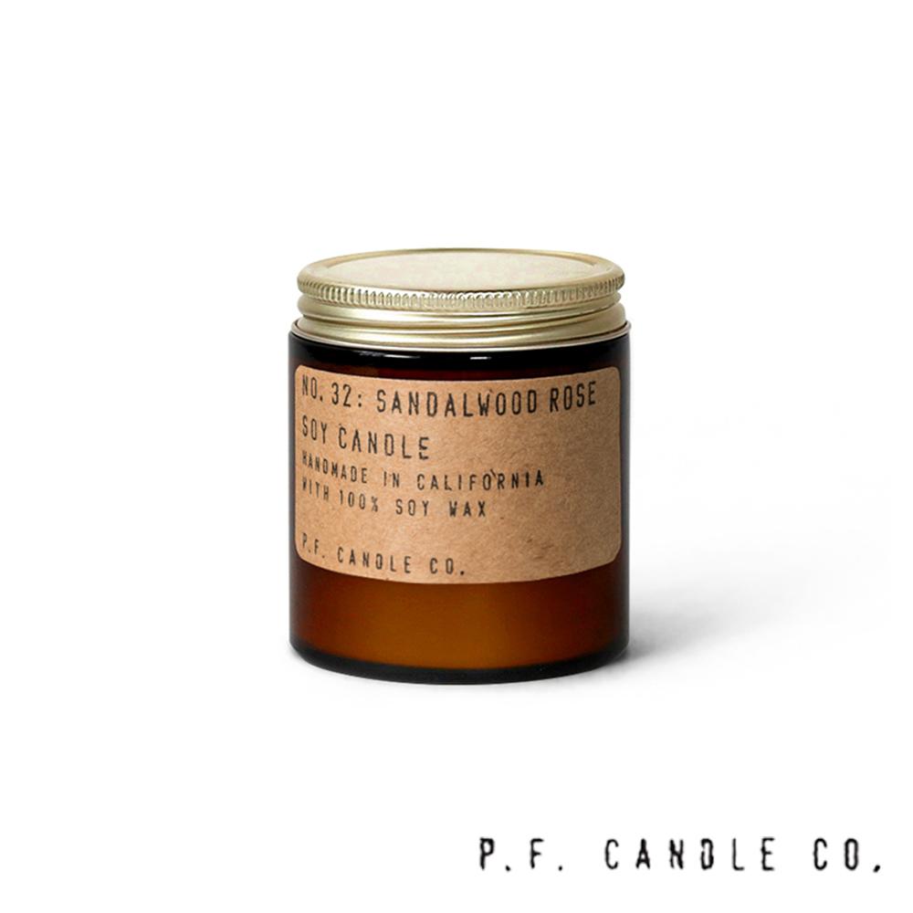 美國 P.F. Candles CO. No.32 檀香玫瑰 手工香氛蠟燭 99g