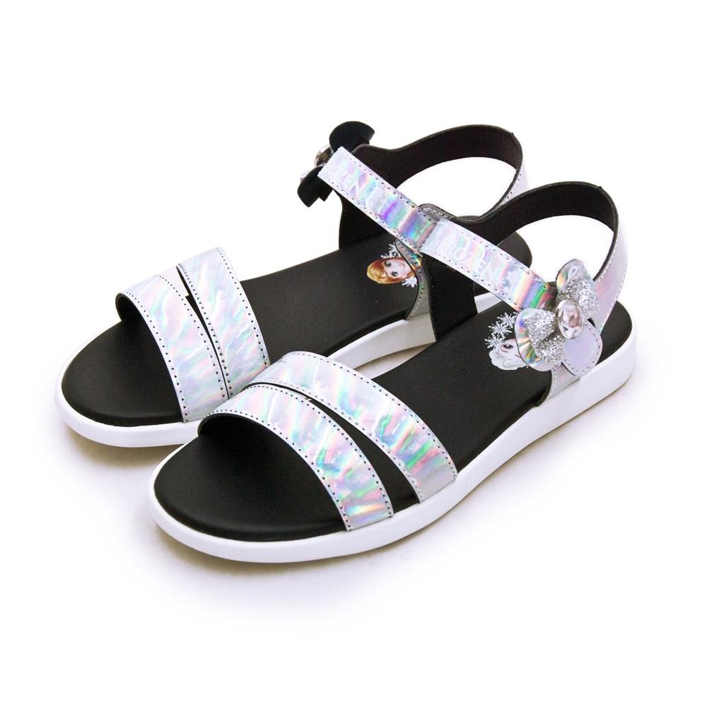 Disney 迪士尼 冰雪奇緣 FROZEN 兒童休閒涼鞋 銀黑 04129