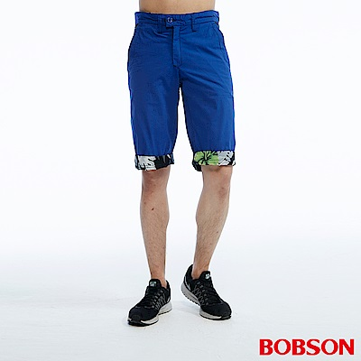 BOBSON 男款雙面穿短褲