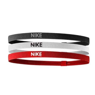 Nike 髮帶 Elastic Hairbands 女款 三入一組 矽膠 止滑 運動休閒 黑 白 紅 NJN04945OS