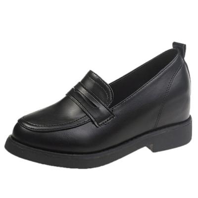 KEITH-WILL時尚鞋館 美型春暖花開增高樂福鞋-黑