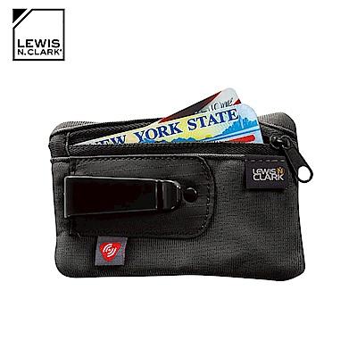 Lewis N. Clark RFID屏蔽扣夾零錢包 1234 / 黑色