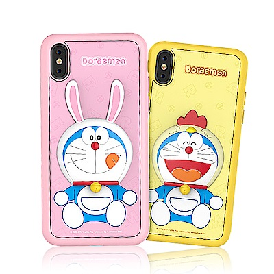 iStyle iPhone X/XS 哆啦A夢 趣味生肖手機殼-兔雞