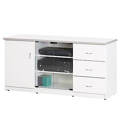 文創集 蘿倫環保4.5尺塑鋼三門三抽電視櫃(四色)-135x48x69cm-免組