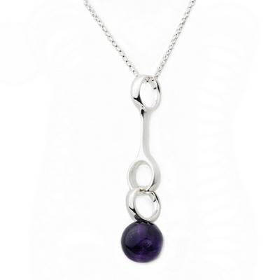 Georg Jensen Sphere 紫水晶+純銀項鍊
