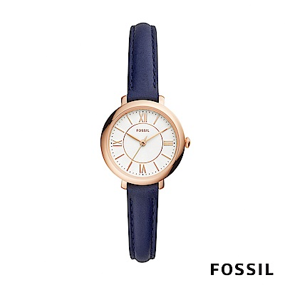 FOSSIL JACQUELINE SMALL 藍色賈姬風尚迷你手錶 約26mm ES4410