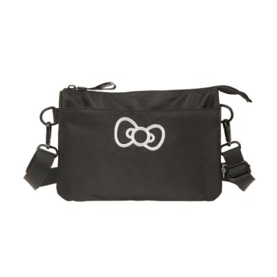 【Hello Kitty】蝴蝶結凱蒂-雙層側背包-黑 FPKT0E002BK