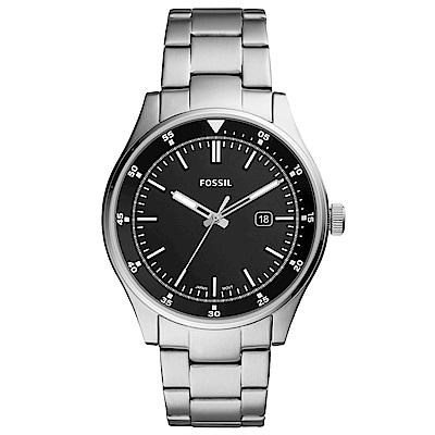 FOSSIL Belmar 簡約時尚手錶(FS5530)-黑X銀/44mm
