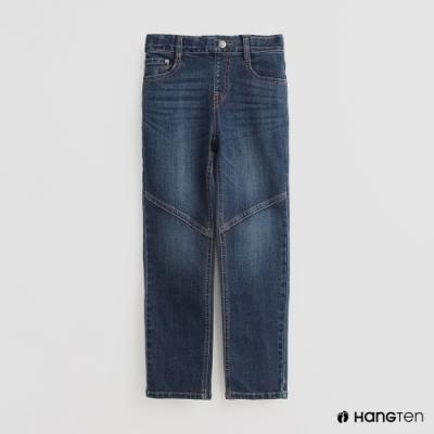 Hang Ten -童裝 - 斜紋牛仔長褲 - 藍
