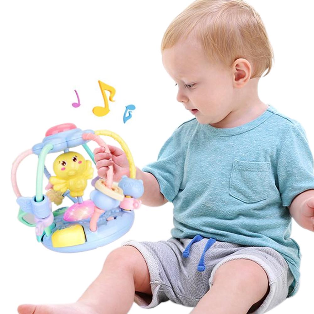 colorland 嬰兒玩具牙膠手搖鈴音樂故事機 益智早教手抓球