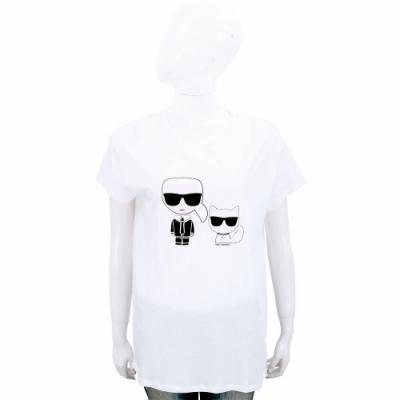 [時時樂限定]Karl Lagerfeld 卡爾貓咪圖案T恤-2色