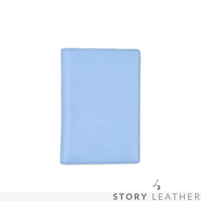 STORYLEATHER Style 90833 牛皮護照夾 荔枝紋水藍