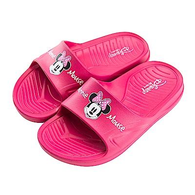 迪士尼童鞋 米妮 復古防水拖鞋-桃