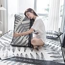 BUNNY LIFE 艾米-加大-北歐風透氣涼爽冰絲蓆(含枕套)