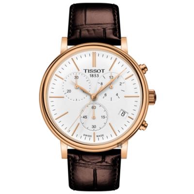 TISSOT 天梭 CARSON PREMIUM 計時石英錶-41mm T1224173601100