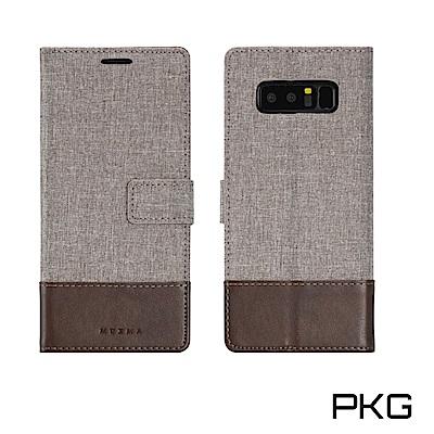 PKG SAMSUNG Note8 側翻式國際時尚雙拚皮套