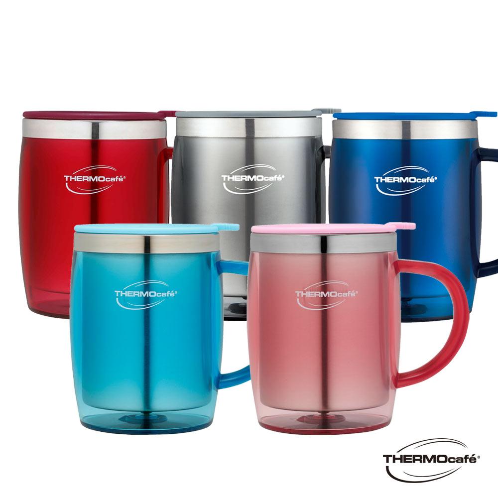 [買杯贈杯]THERMOcafe凱菲不鏽鋼真空隔溫杯0.35L