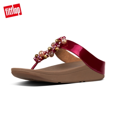 FitFlop DECO PATENT TOE-THONGS 火焰紅