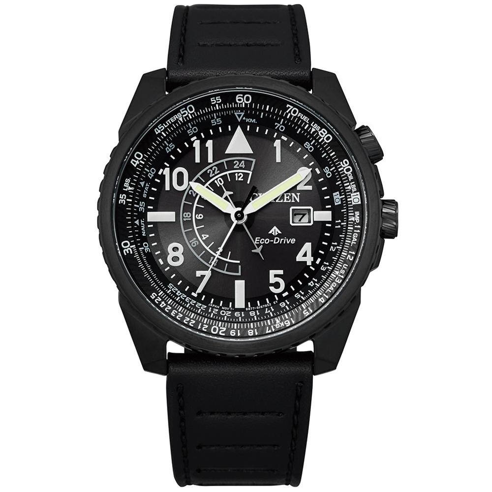 CITIZEN 星辰PROMASTER航空計算尺光動能腕錶BJ7135-02E