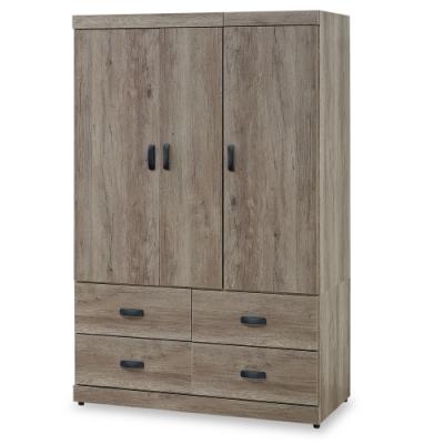 時尚屋  布倫丹4x6尺衣櫃  寬113.5x深53x高178cm