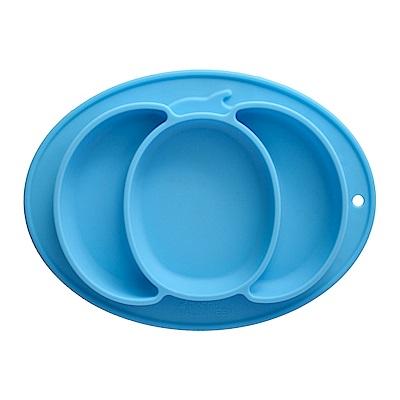 EXPECT兒童矽膠餐盤(南瓜款)-藍色