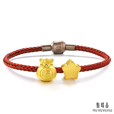 點睛品 charme 小福星 黃金串珠組合