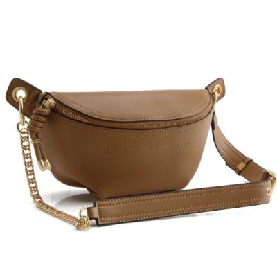 MOROM 真皮美型時尚造型三用腰包(咖啡)