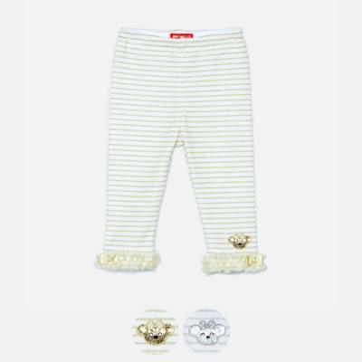 WHY AND 1/2 mini 條紋亮蔥長褲 1Y~4Y 多色可選