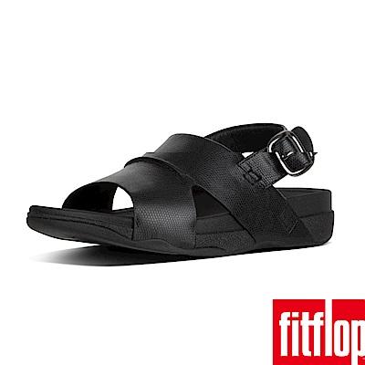 FitFlop BANDO SANDAL IN LIZARD PRINTED-黑