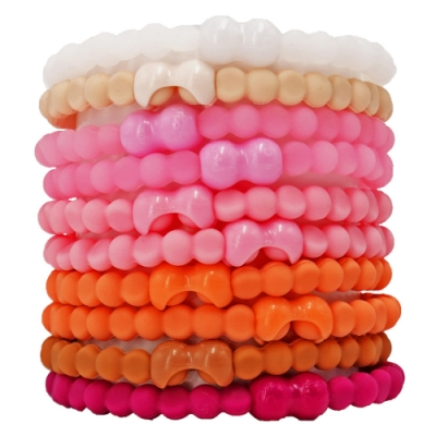 Pro Hair Tie 扣環髮圈10件組-莫蘭迪色-低彩粉系