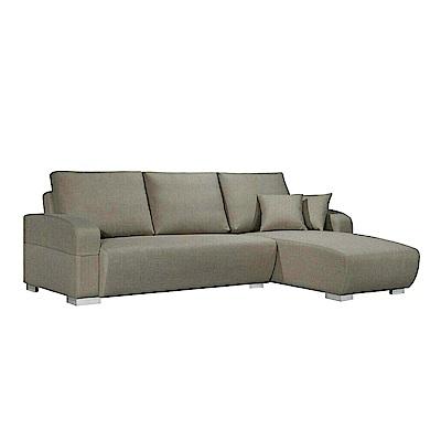 AS-康那理惟士灰布面右L型沙發280x170x97cm
