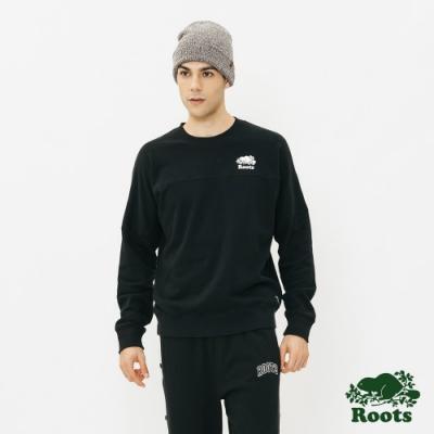 男裝Roots-  原創毛圈布圓領上衣-黑