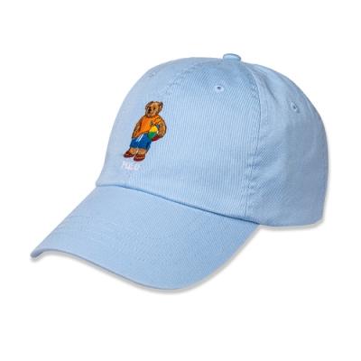 Polo Ralph Lauren 經典刺繡Polo熊可調式鴨舌帽-藍色