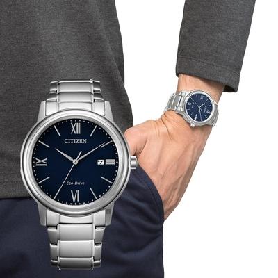 CITIZEN 星辰 光動能城市手錶-藍 AW1670-82L
