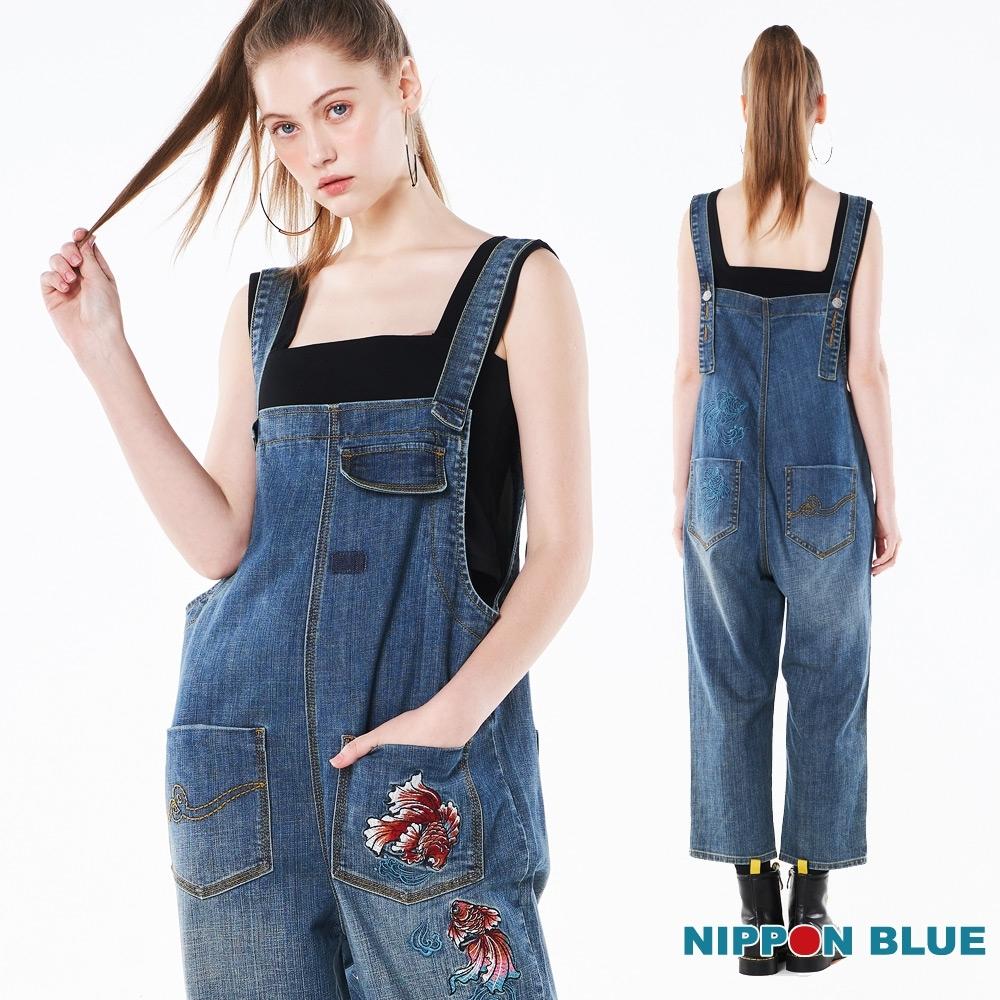 日本藍 BLUE WAY – 網路獨家-金魚牛仔吊帶褲-女款(正反穿)