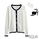 SQUA 鈕扣裝飾袖針織外套-二色