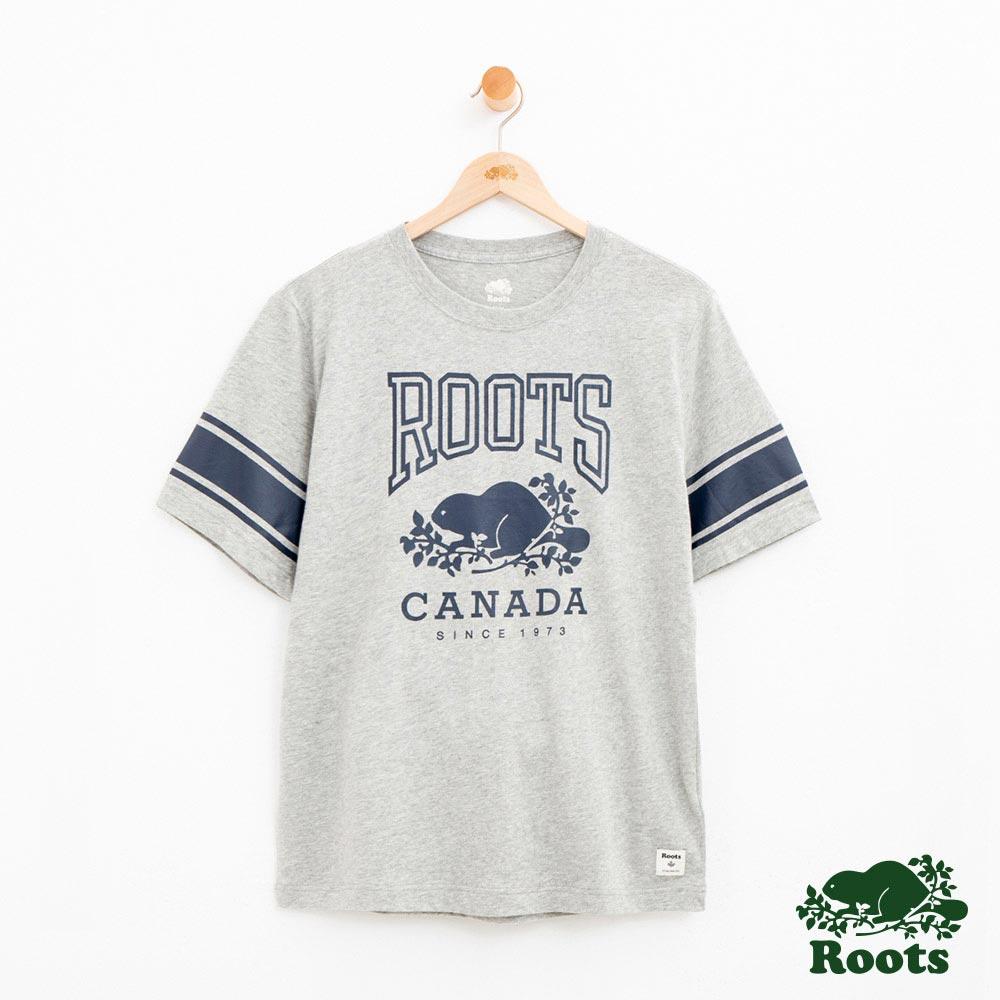 男裝Roots 經典短袖T恤-灰